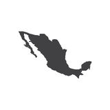 De illustratie van het de kaartsilhouet van Mexico royalty-vrije stock afbeelding