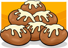 De illustratie van het de kunstbeeldverhaal van de Donutsklem royalty-vrije illustratie