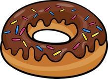 De illustratie van het de kunstbeeldverhaal van de doughnutklem Stock Afbeelding