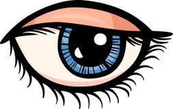 De illustratie van het de kunstbeeldverhaal van de oogklem Stock Foto