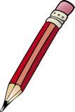 De illustratie van het de kunstbeeldverhaal van de potloodklem Royalty-vrije Stock Afbeeldingen
