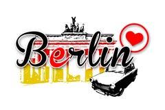 De illustratie van het de kunstontwerp van Berlijn Stock Foto's