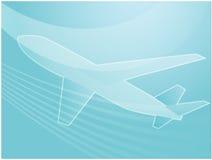 De illustratie van het de reisvliegtuig van de lucht Stock Afbeelding