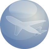 De illustratie van het de reisvliegtuig van de lucht Stock Fotografie