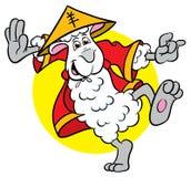 De illustratie van het de schapenbeeldverhaal van de karate Royalty-vrije Stock Fotografie