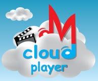 De illustratie van het de spelerconcept van de wolk Royalty-vrije Stock Foto's