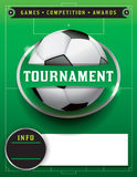 De Illustratie van het de Toernooienmalplaatje van de voetbalvoetbal Stock Foto's