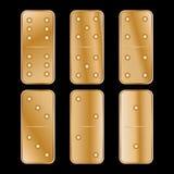 De illustratie van het dominopictogram van zes stukken hout stock illustratie