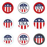 De illustratie van het het etiketteken van de V.S. Royalty-vrije Stock Foto