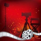 de illustratie van het filmthema Stock Foto