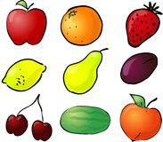 De illustratie van het fruit Stock Afbeelding