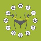 De illustratie van het gewichtsverlies Stock Afbeelding