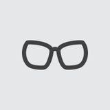 De illustratie van het glazenpictogram stock illustratie