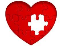 De illustratie van het hart Stock Foto's