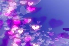 De Illustratie van het hart op achtergrond voor ca van de Valentijnskaart stock illustratie