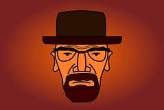 De illustratie van het Heisenbergkarakter stock illustratie