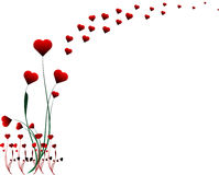 De illustratie van het het hartontwerp van de valentijnskaart Stock Illustratie