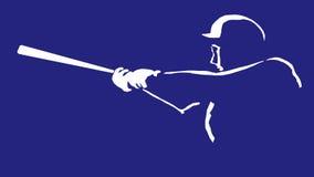 De Illustratie van het honkbal Stock Foto's