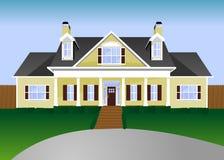 De Illustratie van het huis Stock Afbeelding