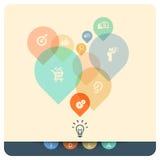 De Illustratie van het ideeconcept Stock Fotografie
