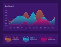De illustratie van het Infographicdashboard Verwerking en analyse van gegevens Stock Fotografie