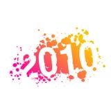 De illustratie van het jaar 2010 - vector Stock Afbeelding