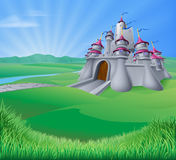 De Illustratie van het kasteellandschap Stock Fotografie
