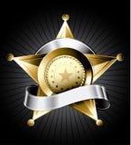 De Illustratie van het Kenteken van de sheriff Stock Foto