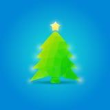 De illustratie van het kerstboomnieuwjaar stock illustratie
