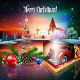De illustratie van het Kerstmisthema vector illustratie
