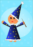De Illustratie van het Kind van de tovenaar Stock Afbeelding
