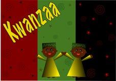 De Illustratie van het Kind van Kwanzaa Stock Foto's