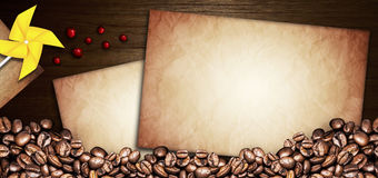 De illustratie van het koffiemenu Stock Afbeeldingen