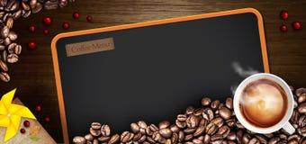 De illustratie van het koffiemenu Royalty-vrije Stock Foto's