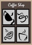 De Illustratie van het koffiesymbool Stock Foto