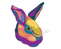 De illustratie van het konijnpop-art Stock Foto's
