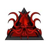 De illustratie van het Krakenembleem Royalty-vrije Stock Fotografie