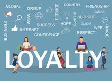 De illustratie van het loyaliteitsconcept Het idee van klanten, koppelt terug Royalty-vrije Stock Fotografie