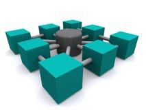 De illustratie van het netwerk Stock Afbeeldingen