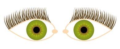 De illustratie van het oog Stock Fotografie