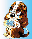 De illustratie van het puppy Stock Foto