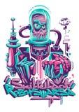 De Illustratie van het robotmonster Stock Foto