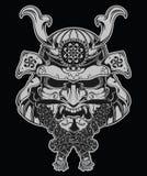 De illustratie van het samoeraienmasker Stock Afbeeldingen