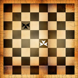 De illustratie van het schaakbord Stock Fotografie