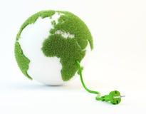 De illustratie van het schone energieconcept Stock Fotografie