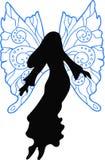 De Illustratie van het Silhouet van de fee Royalty-vrije Stock Fotografie