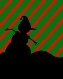De Illustratie van het Silhouet van de sneeuwman Royalty-vrije Stock Foto's