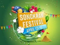 De illustratie van het Songkranfestival vector illustratie