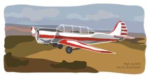 De illustratie van het sportvliegtuig Stock Afbeeldingen