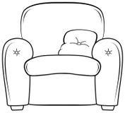 De illustratie van het stoeloverzicht Vectorhand getrokken zetel Royalty-vrije Stock Afbeelding